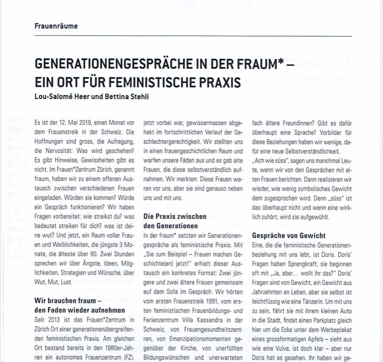 Generationengespräche als feministische Praxis